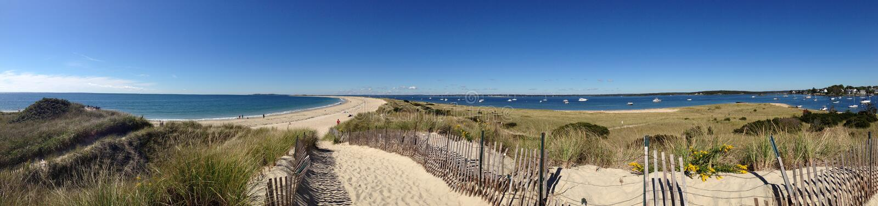 Long Island dźwięka panorama zdjęcie stock