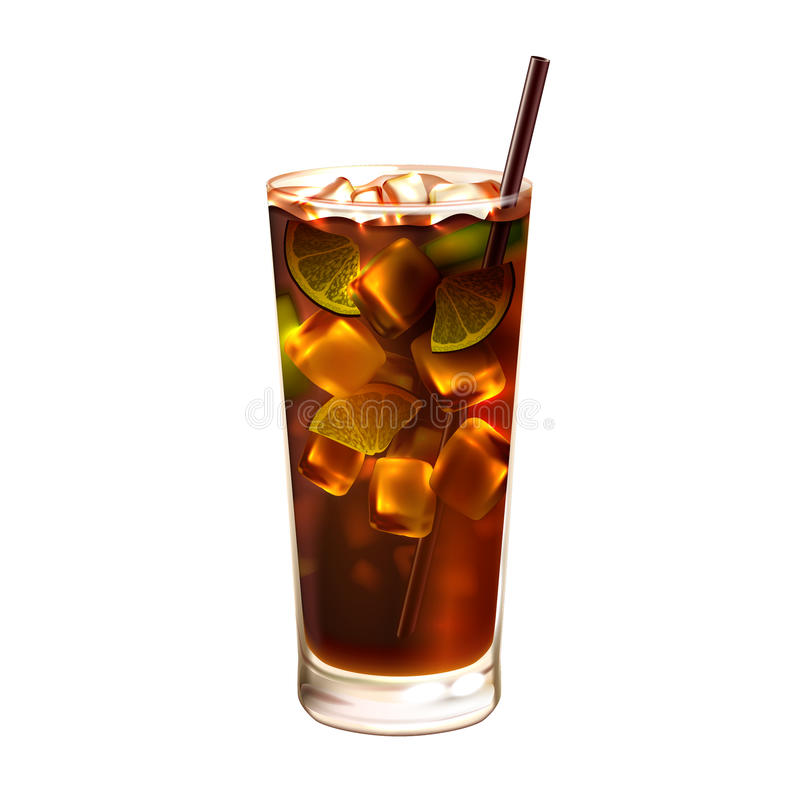 Long island ice tea cocktail realistic stock vector for Cocktail long island