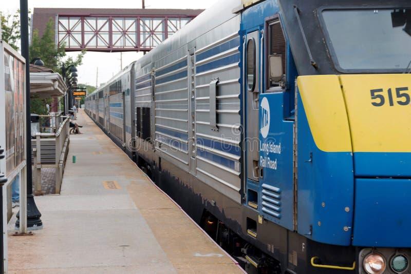 Long Island Railroad Trian heading East royalty free stock photo