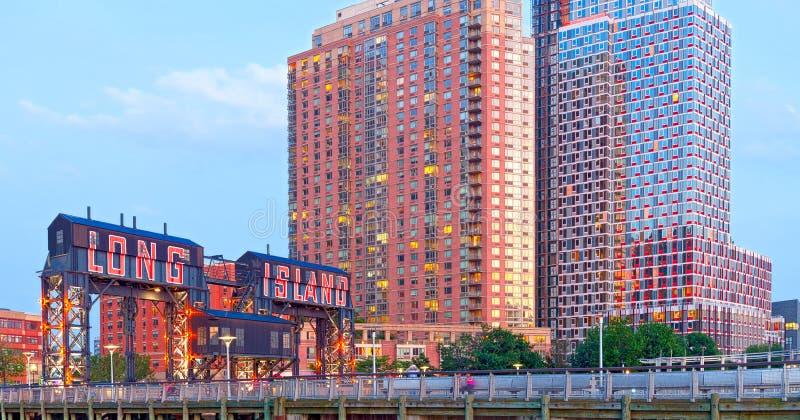 Long Island-Stad New York royalty-vrije stock fotografie