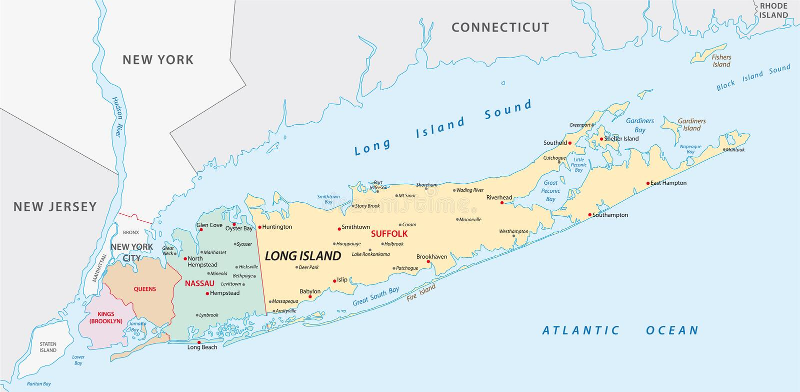 Long- Islandkarte vektor abbildung
