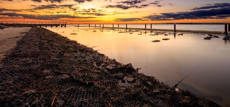 Long Islandsolnedgång fotografering för bildbyråer