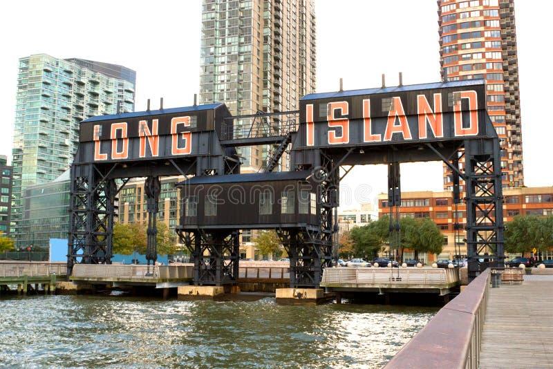 Long Islandstadtpier, New York lizenzfreie stockbilder