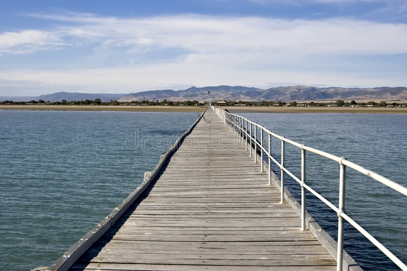 Long jetty stock photo