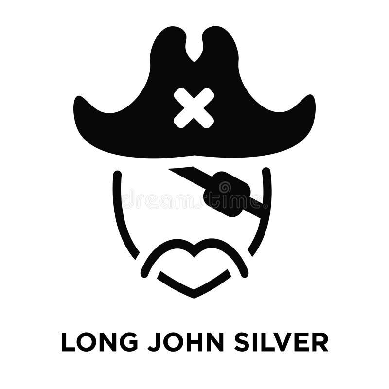 Long john silver icon vector isolated on white background, logo stock illustration