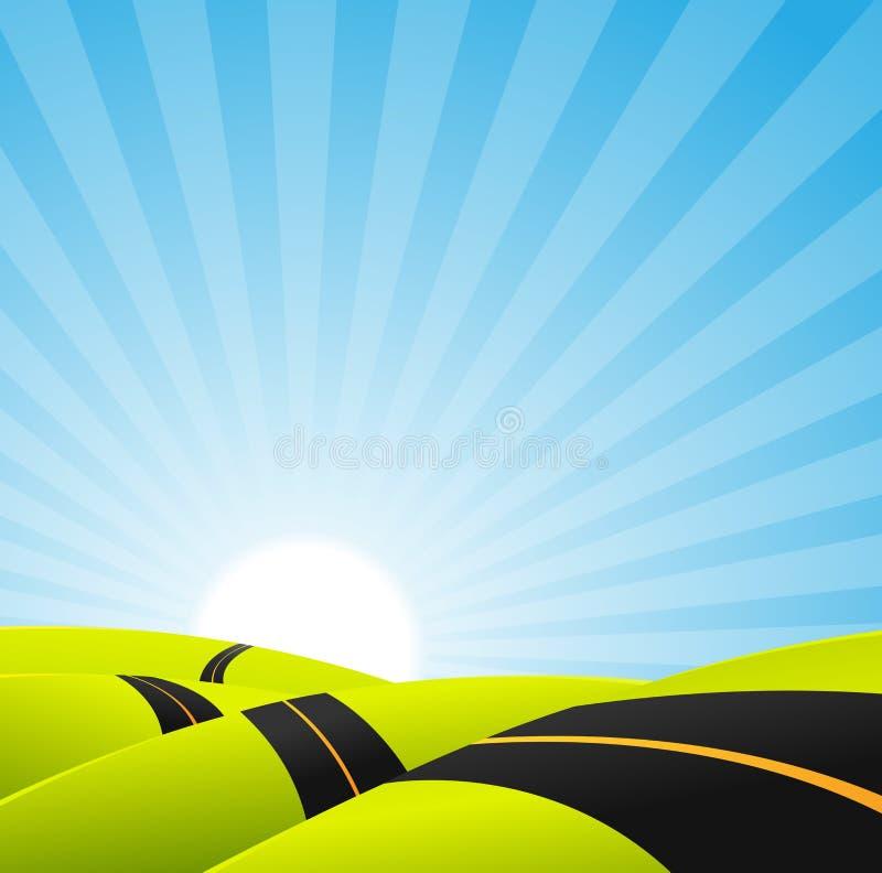 Long Journey Background vector illustration