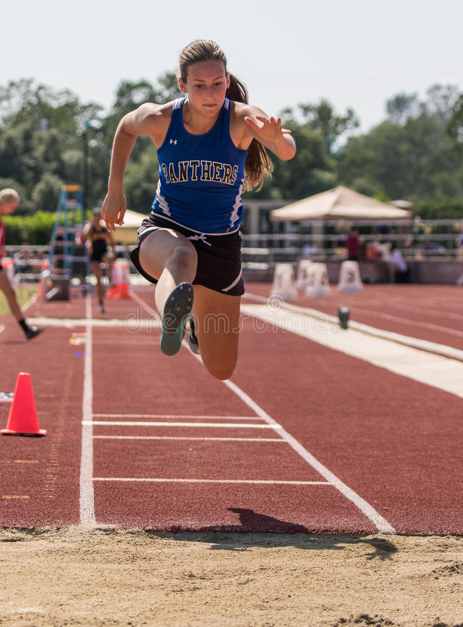 Long Jump editorial photography. Image of over, finish ...