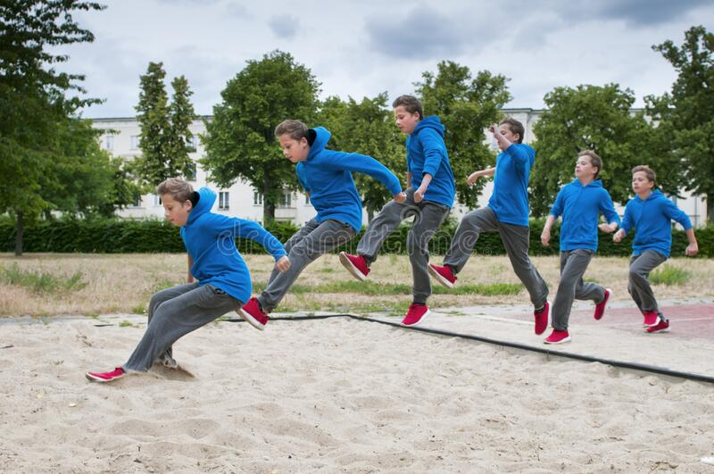 Long Jump Sequence 2 Outdoor Stock Photo - Image of leap ...