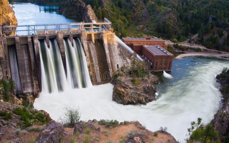 Long Lake Dam. Horizontal Photo of Long Lake Dam in Eastern Washington State with River stock photo
