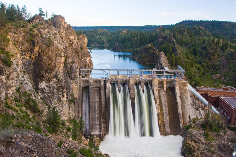 Long Lake Dam. Horizontal Photo of Long Lake Dam in Eastern Washington State stock photo