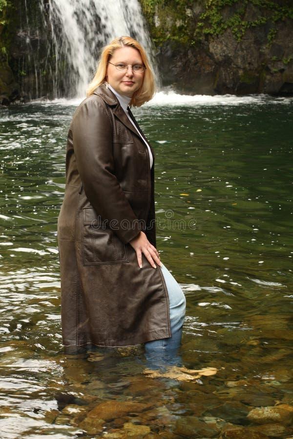 Long Leather Jacket royalty free stock images