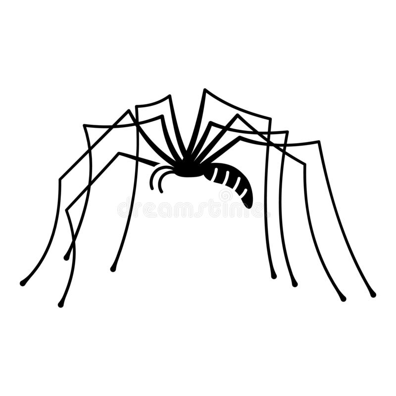 Long leg spider icon, simple style. Long leg spider icon. Simple illustration of long leg spider vector icon for web design isolated on white background royalty free illustration