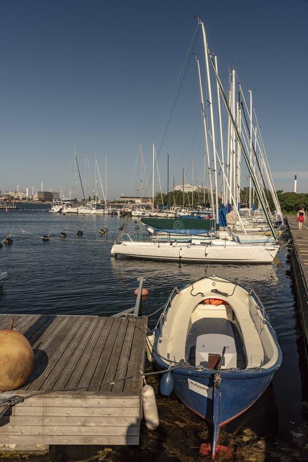 Long Line Marina , Copenhagen royalty free stock photo