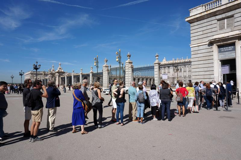 Long Line to Get into the Royal Palace royalty free stock image