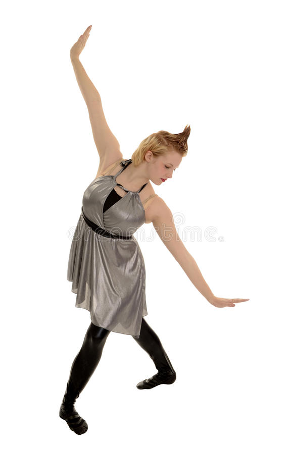 Long Lines of a Female Jazz Dancer royalty free stock photo