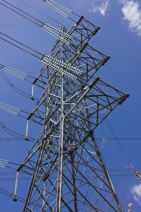 Long Lines Of Powerline Towers Royalty Free Stock Photography