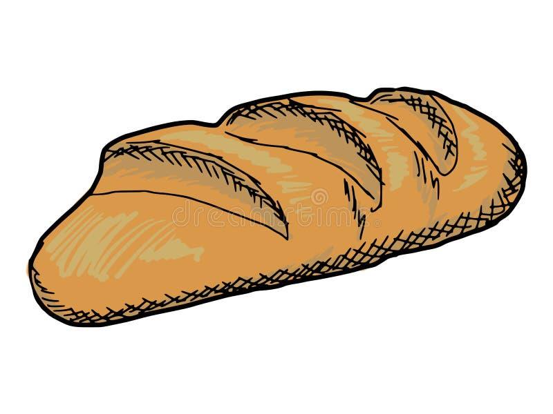 Long loaf stock illustration
