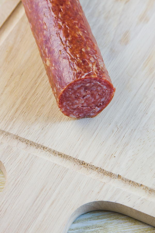 Long Loaf The Smoked Sausage Royalty Free Stock Photography