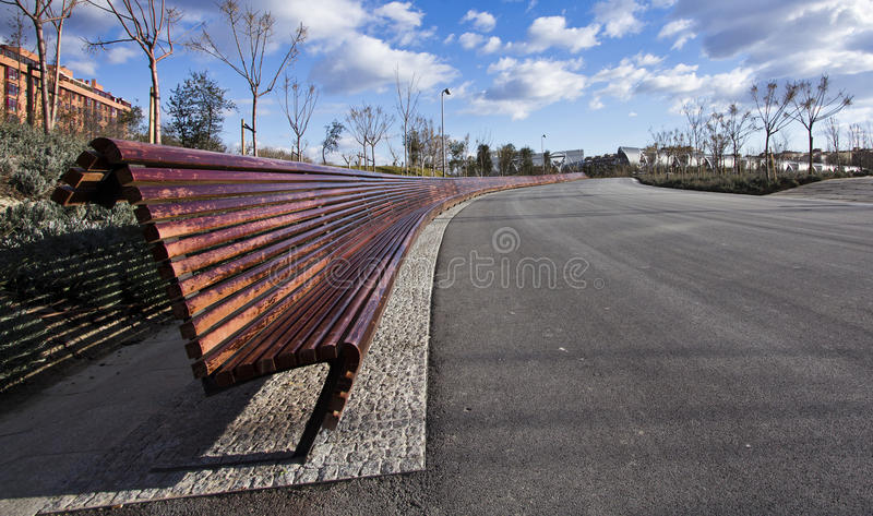The long long seat royalty free stock image