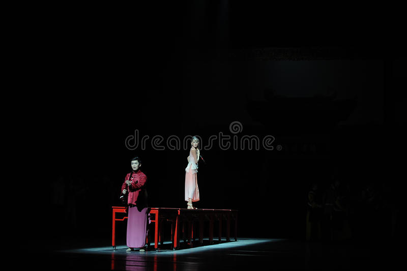 The long love road-The first act of dance drama-Shawan events of the past. Guangdong Shawan Town is the hometown of ballet music, the past focuses on the royalty free stock photography