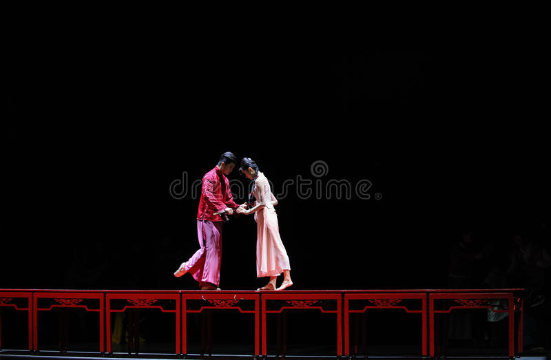 The long love road-The first act of dance drama-Shawan events of the past. Guangdong Shawan Town is the hometown of ballet music, the past focuses on the stock photos