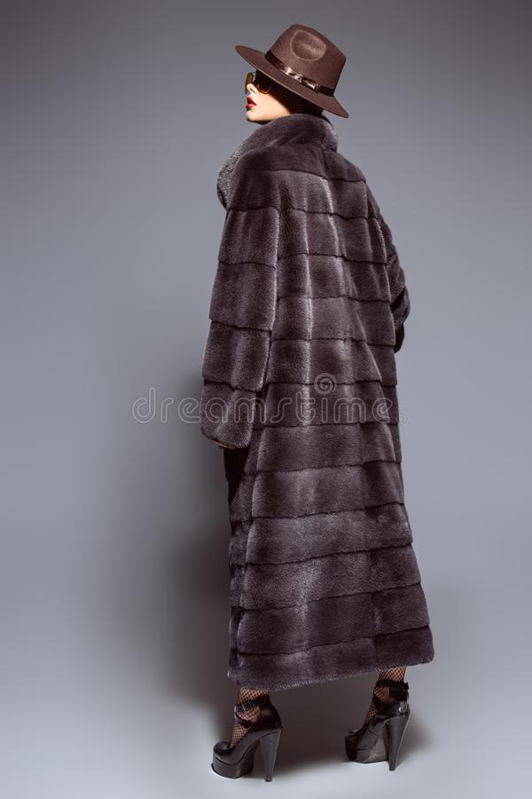 Long manteau de fourrure photos stock