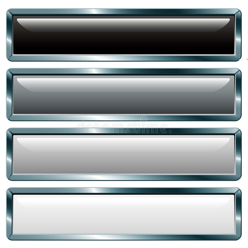 Long metallic gray stock illustration