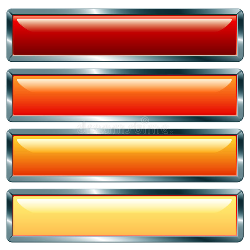 Download Long metallic hot stock vector. Image of collection, button - 10662487