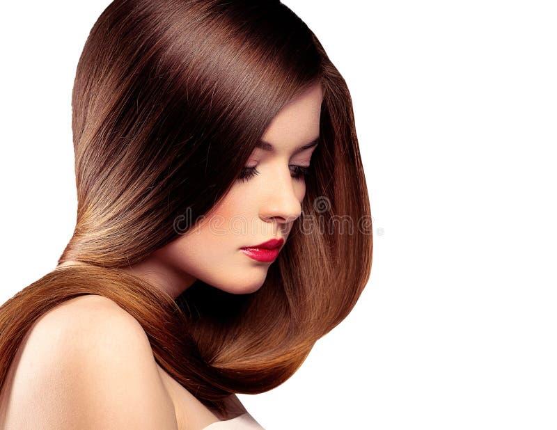 Long modèle de cheveu image libre de droits