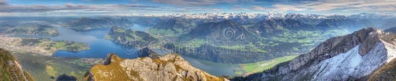 Download Long Mountain Panorama Of Lake Stock Image - Image: 18676889