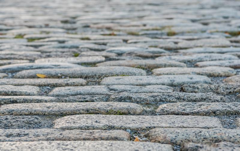 Long Narrow Cobble Stone Street royalty free stock photos