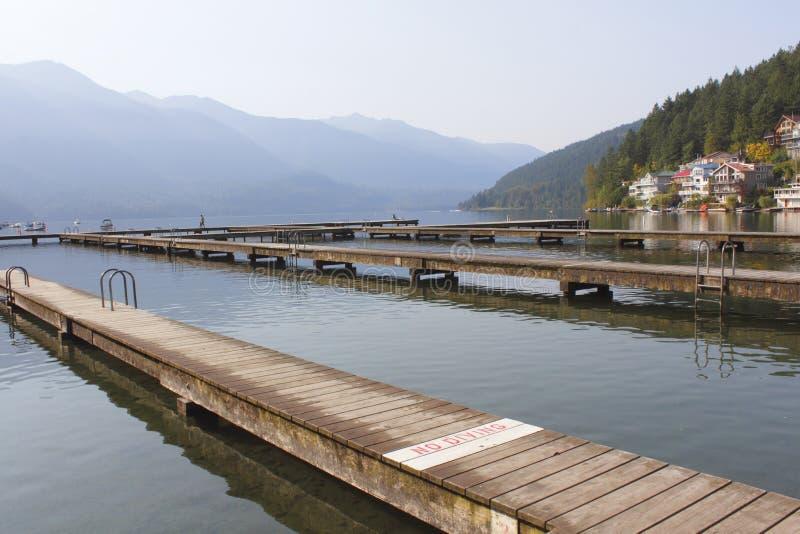 Long, Narrow Dock royalty free stock images