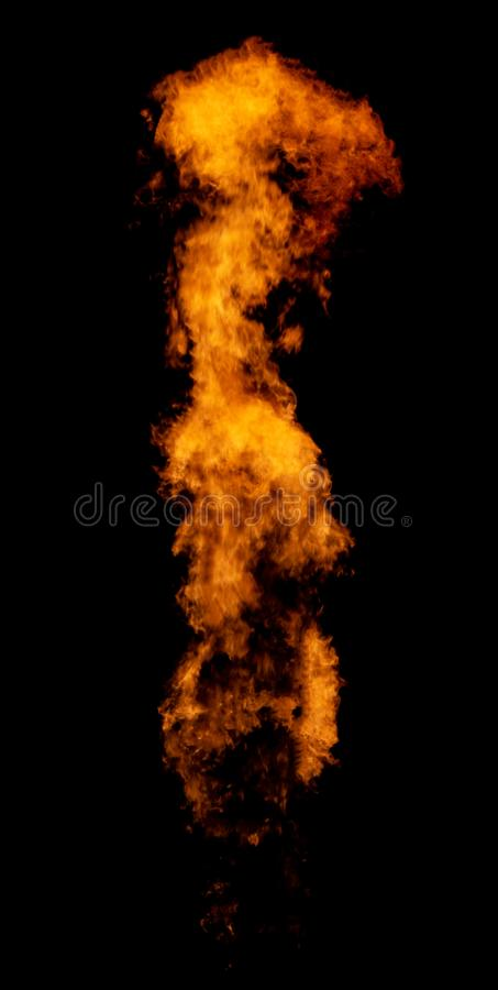 Long narrow flame royalty free stock images
