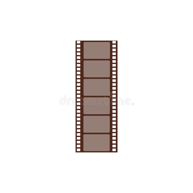 Long negative frame, cut film string. Film strip and picture for cinema and media. vector illustration