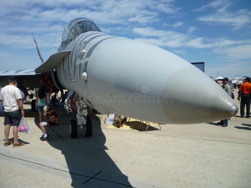 Long Nose F18 Hornet stock photo