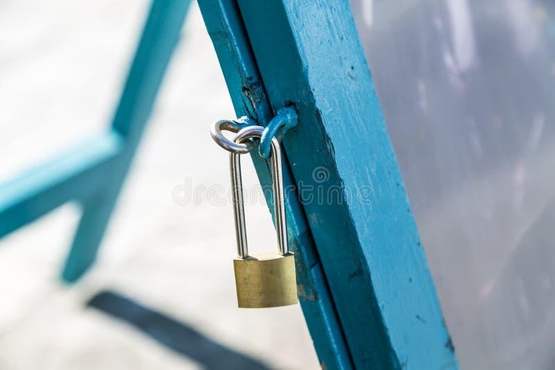 Long pad lock stock photo