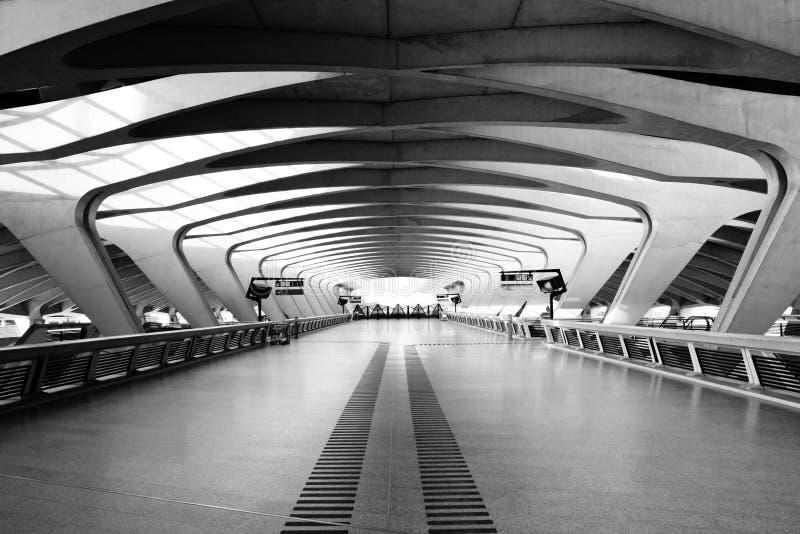 Long Passage Way - Modern Architecture stock image