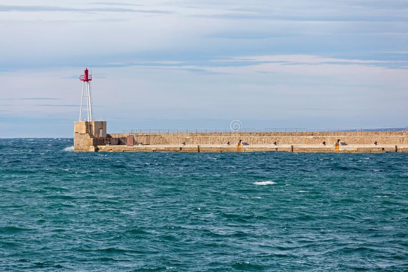 Long Pier Dock stock image