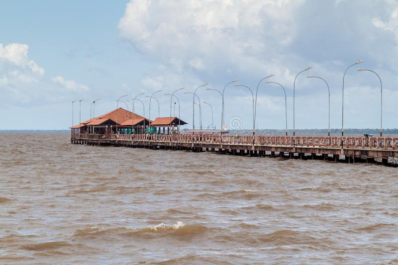 Long pier in Macapa, Braz stock photos