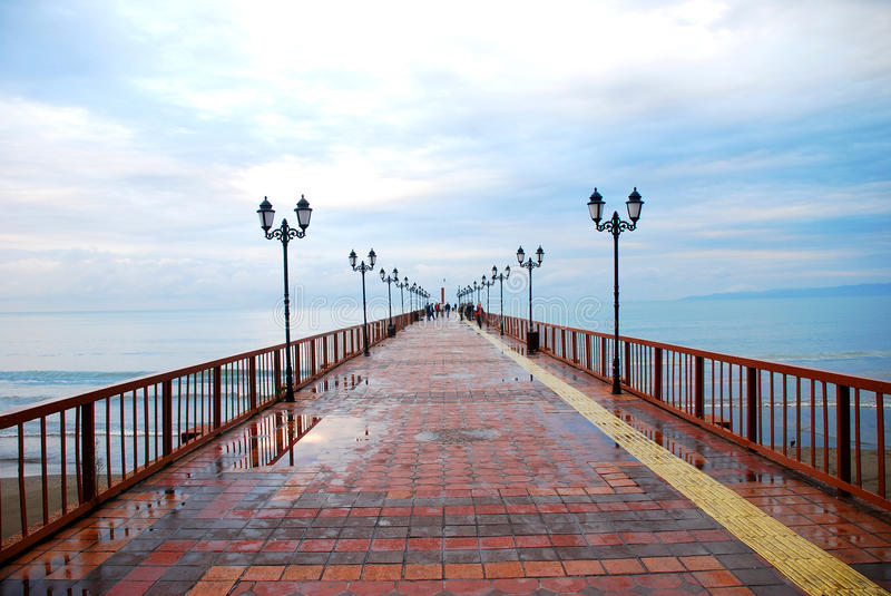 Download Long pier stock photo. Image of calm, exposure, cascading - 35008582