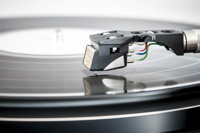 Long playing vinyl record stock images