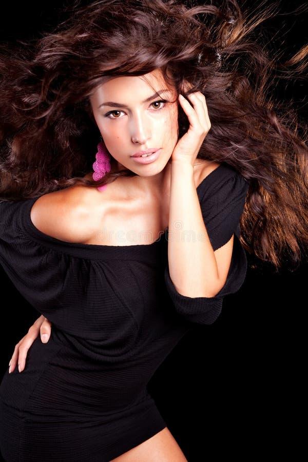 Long portrait de beauté de cheveux images libres de droits
