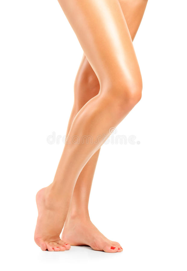 Long pretty woman legs stock photos