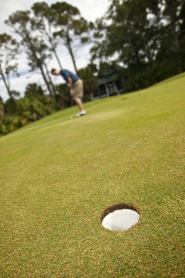 Long putt images stock
