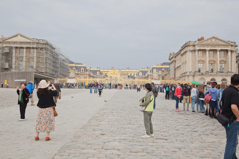 Long Queue, Palace of Versailles stock photography