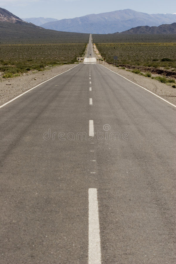 The long road royalty free stock image
