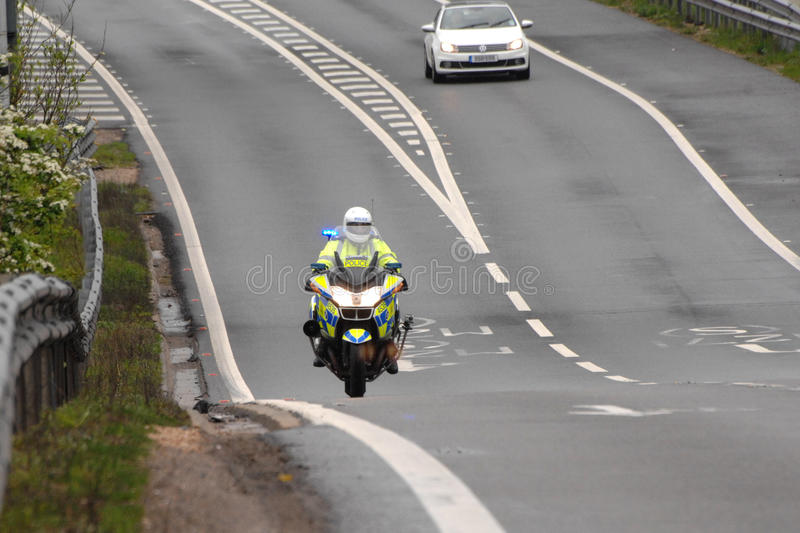 Download The Long Road Ahead. POLICE Motorcycle Editorial Stock Image - Image: 24636309