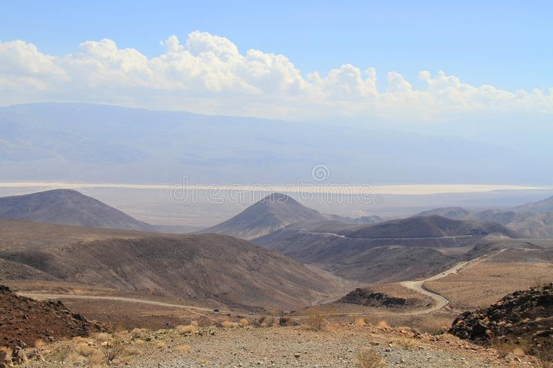 Download Desert Landscape In California: Endless Road Into Saline Valley Stock Image - Image: 26565911