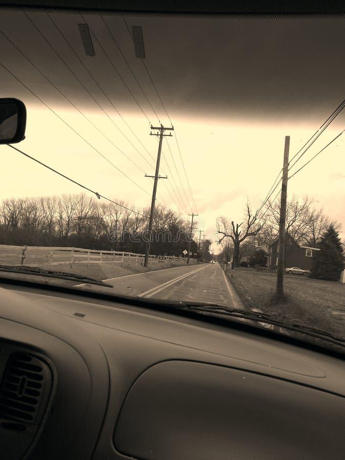 Long road stock image