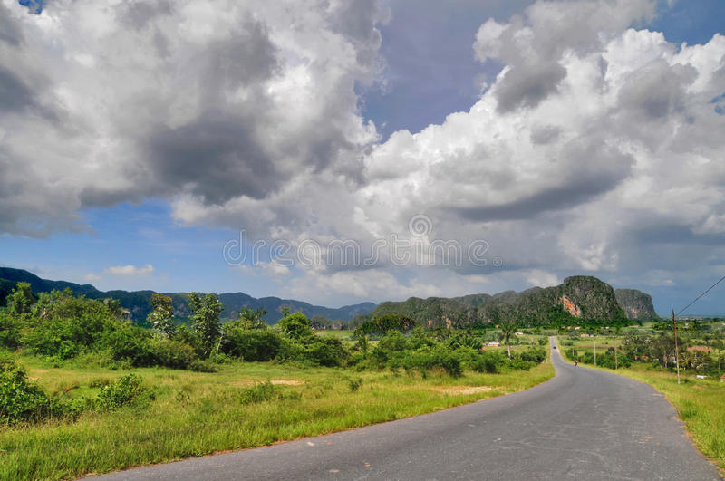Long Road To The Clouds Royalty Free Stock Image